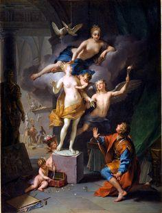 The Athenaeum - Pygmalion adoring his statue (Jean Raoux - )