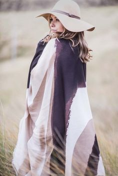 Abstract Camel Handpainted Scarf - €45