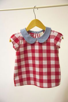 Gingham Peter Pan Top. So easy
