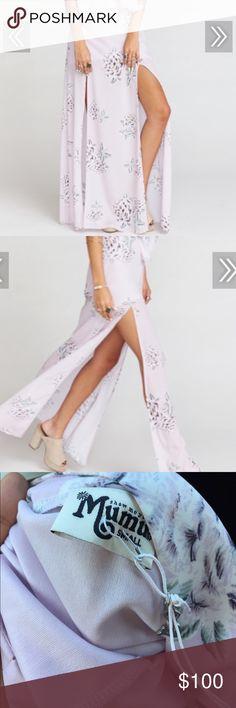 Brand new show me your Mumu maxi skirt liv lav lav Brand new small mumu maxi skirt. Prettiest print ever Skirts Maxi