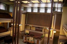 Unity Temple interior, Oak Park, Illinois