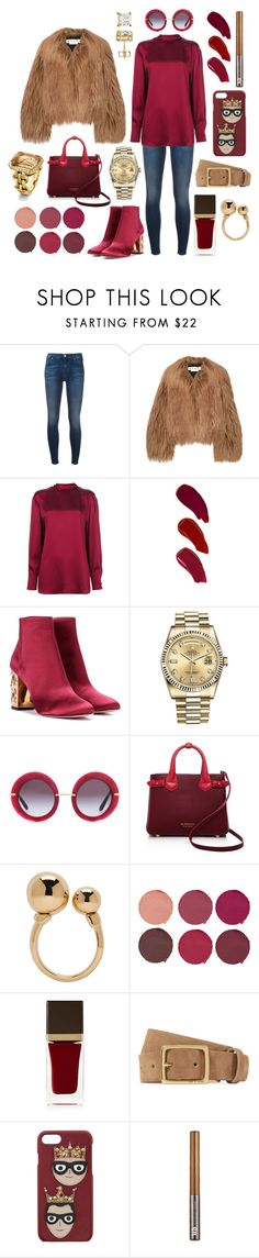 """""""autumn winds begin to blow, colored leaves fall fast and slow 🍂"""" by theodor44444 ❤ liked on Polyvore featuring 7 For All Mankind, Marni, Valentino, Ellis Faas, Aquazzura, Rolex, Dolce&Gabbana, Burberry, Chloé and Pat McGrath"""