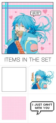 """""""i just can't with you"""" by carebear-chan ❤ liked on Polyvore featuring art, anime, dmmd, Dramaticalmurder and aobaseragaki"""