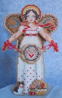 Brooke's Books Angel of Cross Stitch Ornament by BrookesBooksStore