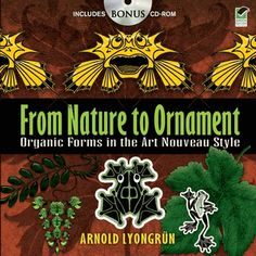 Unusual collection of 133 images from the natural world features side-by-side renderings of the same subject: first in its realistic form, and then in a stylized Art Nouveau interpretation. Includes a CD-ROM.