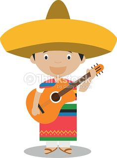 Character from Mexico dressed in the traditional way with guitar. Kids of the World Collection. Mexico Dress, Guitar Vector, Illustration Kids, Free Vector Art, Image Now, Pikachu, Culture, Traditional, Fictional Characters
