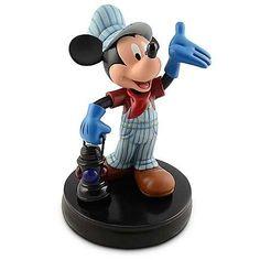 Mickey train engineer large figurine