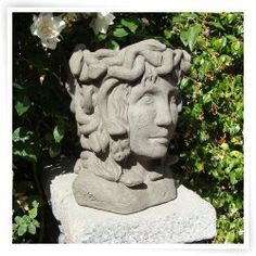 Designer Stone Medusa Head Planter
