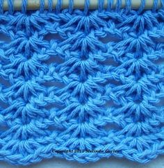Tunisian Crochet-Shells & Bars Stitch Pattern
