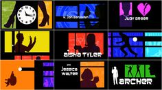 The title sequence for the animated TV show Archer. It's yet another example of the aesthetic style I've been researching. It uses the multiscreen/panel technique akin to Pablo Ferro and Saul Bass, as well as silhouettes that I've been interested in myself.