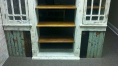 Bookcase - close look at the bottom and original threshold