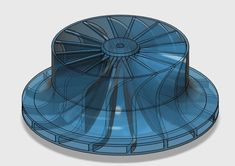 Impeller for centrifugal compressor by TanyaAkinora - Thingiverse Centrifugal Fan, Micro Jet Engine, 3d Printing Machine, Cnc Software, Wow Video, 3d Printed Objects, Gas Turbine, Energy Projects, Health