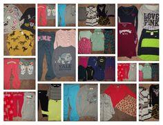 Huge 41pc Junior Teen Girl's Clothing Lot sz S MED VS PINK Forever 21 Hollister  #AropostaleAmericanEagleOutfittersAnnTaylorExpressFOREVER21GAPHMHollisterVictoriasSecret