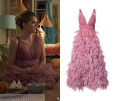 The Bold Type: Season 2 Episode 1 Sutton's Pink Ruffle Blouse Fashion Tv, Fashion Outfits, Season 2 Episode 1, Evening Dresses, Prom Dresses, Cool Outfits, Movie Outfits, Special Dresses, A Line Gown