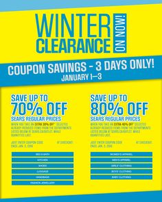 #SearsCA: [Sears] Sears outlet Winter clearance UPTO 80% off http://www.lavahotdeals.com/ca/cheap/sears-sears-outlet-winter-clearance-upto-80/56969