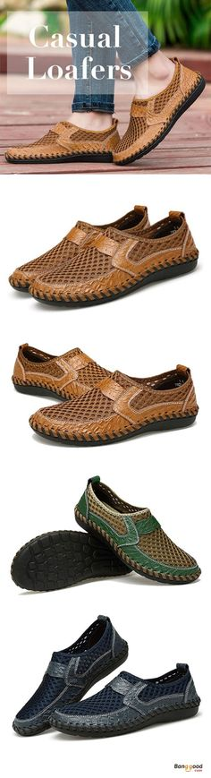 US$33.27+Free shipping. Mesh Loafers, Men Flats. Hand Stitching, Breathable, Casual, Slip-On. Color: Green, Brown, Dark Blue. Size: 6.5-11.