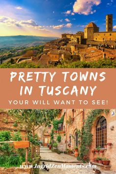 The prettiest towns in Tuscany you must see on your Italy vacation. These are some of the most beautiful Italy destinations anyone should see! Italy Vacation, Italy Travel, Travel Around The World, Around The Worlds, Italy Destinations, Historical Monuments, Visit Italy, Medieval Town, World Heritage Sites