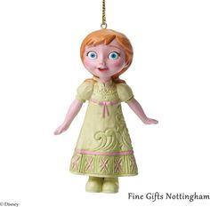 Anna Hanging Ornament Disney Frozen - Disney Traditions Jim Shore A27549 #AnnaHangingOrnament #DisneyTraditionsJimShore #FineGiftsNottingham