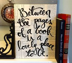 9 x 12 lona entre las páginas de un libro... página por Houseof3