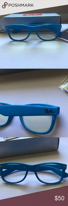 Bright Blue Glasses Frames : Ray bans, White frames and Ray ban wayfarer on Pinterest