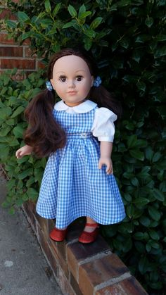 18 Inch Doll Dorothy Outfit by DressingUpDolly on Etsy
