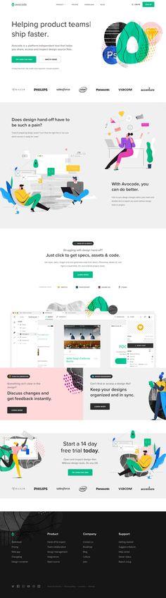 Avocode landing page design inspiration - Lapa Ninja Web Design Examples, Web Design Trends, App Design, Sites Layout, Best Landing Pages, Mobile Web Design, Web Design Agency, Homepage Design, Website Themes