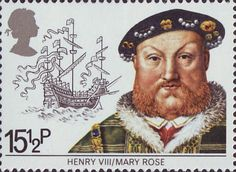 Maritime Heritage stamp - Henry VIII and the Mary Rose