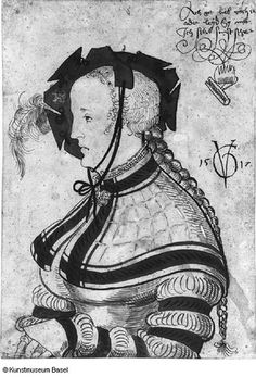 Urs Graf halflength of woman in profile 1517