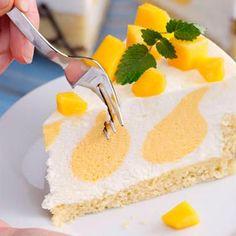 Rezept: Buttermilch- Mango- Torte