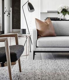 That sofa! So beautiful it's no nonsense minimalism!