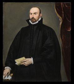 Giovan Battista Moroni, scuola di - Ritratto di Giovan Pietro Maffeis - 1580 ca. - Accademia Carrara di Bergamo Pinacoteca