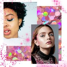 Make up moodboard - glitter and sparkl trend Mood Boards, Make Up, Chokers, Glitter, Jewelry, Maquillaje, Jewellery Making, Maquiagem, Jewelery