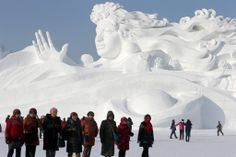 Now This Is a Winter Wonderland: Lucky Winter travelers enjoyed the Sun Island sculpture park in Northeastern China this weekend, where preparations are under way for the annual Harbin International Ice and Snow Sculpture Festival.