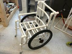 "PVC 1"" pipe wheel chair"
