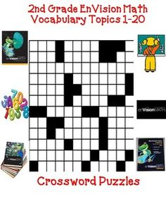 fun second grade crosswords puzzles to teach, re-teach or practice math vocabulary with your students. These words come from the EnVision MATH series by Pearson for second grade. These puzzles have been updated and additions have been made! Teaching 6th Grade, Teaching Math, Teaching Tools, Math Stations, Math Centers, Math Resources, Math Activities, Fifth Grade Math, Fourth Grade
