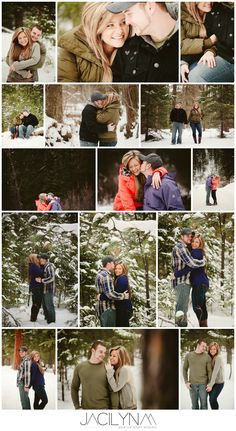 snowy winter mountain engagement
