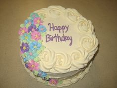 ... on Pinterest  Buttercream Cake, Pansies and Buttercream Flower Cake
