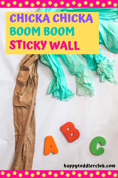 Chicka Chicka Boom Boom activity for toddlers and preschoolers! Perfect indoor activity for home or preschool. Fun sensory play that incorporates fine motor skills and easy art along with alphabet awareness and reading! Summer Activities For Toddlers, Indoor Activities For Toddlers, Toddler Learning Activities, Parenting Toddlers, Motor Activities, Toddler Sensory Bins, Toddler Preschool, Sensory Play, Summer Art Projects