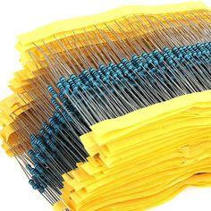 Hot 600 unids/set 1 / 4 W resistencia 1% 30 clases cada valor Metal Film Resistor Kit surtido envío gratis DropShipping