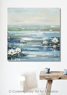 Ideas painting abstract texture water for 2019 Water Lilies Painting, Lily Painting, Types Of Painting, Painting Flowers, Abstract Landscape, Landscape Paintings, Abstract Art, Landscape Design, Landscapes