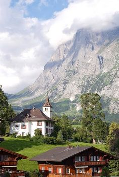Lovely scenery in Grindelwald, Bern Canton, Switzerland.