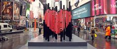Image 1 of 3 from gallery of Immigration-Themed Valentine's Day Heart Erected in Times Square. © Justin Bettman for Times Square, Valentines Day Hearts, Valentine Heart, Square Art, Design Competitions, Public Art, Urban Design, Architecture, Installation Art