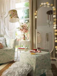 """Picture from """"Creative retreat"""" - project by interiordelight. A hobby is a labour of love. Vanity, Mirror, Interior Design, Creative, Projects, Furniture, Home Decor, Dressing Tables, Nest Design"""