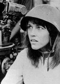 Jane Fonda when visiting N. Vietnam. She told everyone that the US POWs were being treated well and were fine. It was all propaganda. Today she says she deeply regrets her actions. How nice.