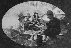 A shooting party taking a break in the Maryborough district, ca. 1900* Queensland history.