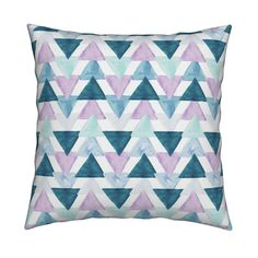 lavender watercolor triangles by ivieclothco