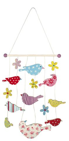 Decorated bird mobile - available from www.glitterwitch.co.uk