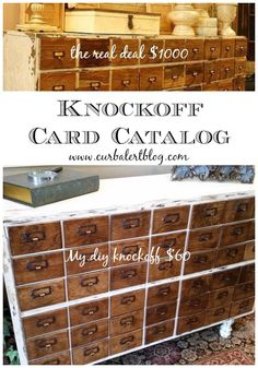 Hometalk :: DIY Knockoff Card Catalog: With a Surprise!