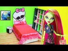 Manualidades para muñecas: CAMA UNIVERSAL para muñecas MONSTER HIGH