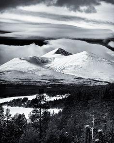 Winter in Rondane Image Photography, Norway, Monochrome, Mountains, Landscape, Studio, Winter, Nature, Travel